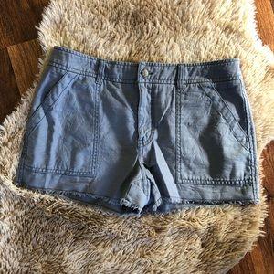 Free People Raw Hem Cargo Shorts